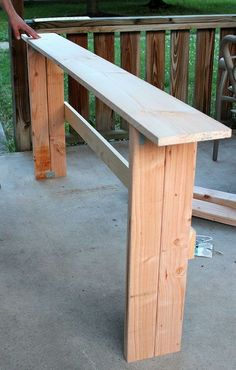 simple diy sofa table tutorial, diy, furniture furniture revivals, woodworking projects, In progress Furniture Projects, Home Projects, Home Furniture, Painted Furniture, Furniture Online, Furniture Design, Simple Furniture, Furniture Repair, Entryway Furniture