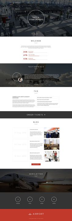 Regional Airport Website #Drupal #template. #themes #business #responsive