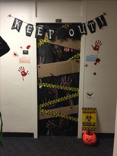 Dorm Room Halloween Door