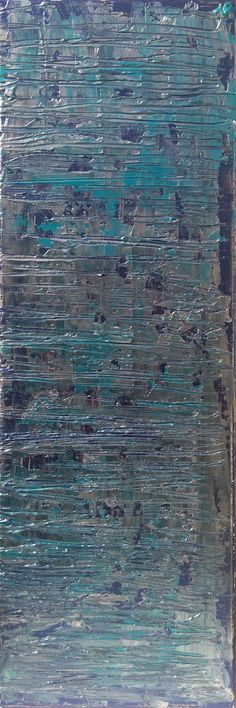 Bleu turquoise 2 Acrylique sur toile 30 x 80 x 1,5 cm