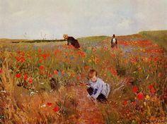 Mary Cassatt, Red Poppies, 1874-1880