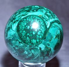 Malachite 3.08 inch 1.96lb Polished Crystal Sphere - Congo