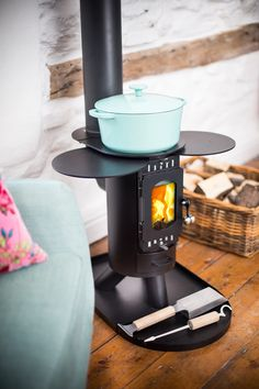 The Fintan Stove in Satin Black - Camping Stoves - Outdoor Stoves - Anevay Mini Wood Stove, Wood Stove Cooking, Kombi Home, Multi Fuel Stove, Off Grid Cabin, Tiny Cabins, Rocket Stoves, Wood Burner, Camping Stove
