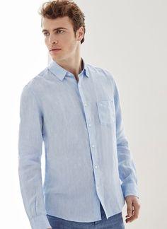 Camisa en lino melange