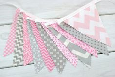 Bunting Fabric Banner Flags Photography Prop by thespottedbarn