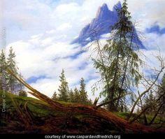 Mountain Peak with Drifting Clouds - Caspar David Friedrich - www.caspardavidfriedrich.org