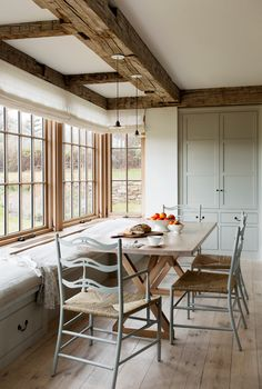 The Gray Barn' farmhouse, Chilmark, MA.' Holmes Hole Builders. Hello Anon. If these are the chairs to which you are referring, I'm afraid that the builder has left the question unanswered. Sorry about...