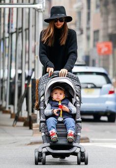 Flynn Bloom - Miranda Kerr Takes Son Flynn to the Park in NYC