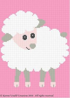 Crochet Patterns - BABY LAMB Afghan Pattern **EASY!** #KarensCradleCreations #Afghan