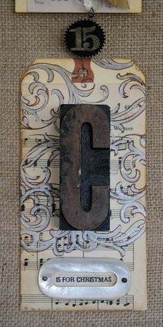Make with Tim Holtz letter press letters