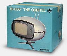 "Panasonic TR-005 Orbitel, usually called the ""flying saucer"" TV (1971, Japan)."