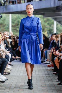 IMRECZEOVA SS18 blue shirt dress with button fastening 60 Degrees, Blue Shirt Dress, Runway, Button, Shirts, Dresses, Fashion, Cat Walk, Vestidos