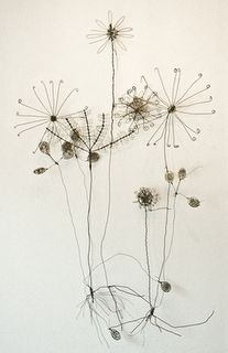 """wire flowers-wouldn't these be cute w/ the wire word """"breathe"""" or """"Spring"""" mounted above?!?"""