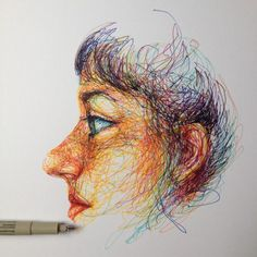 ∞Noel Badges Pugh∞ Rhythm Art, Biro Art, Dotted Drawings, Shading Drawing, Scribble Art, Ap Art, Monster Art, Digital Portrait, Pencil Art