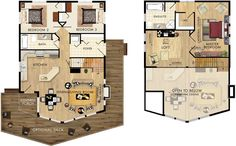 probably switch the master bedroom for the bottom 2 beds; maintaining the sitting area and bathroom and WI closet