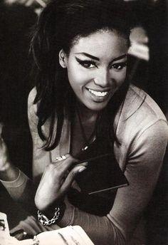 """""""Naomi!"""", Sky UK, April 1990Model : Naomi Campbell"""