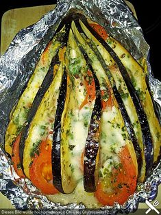 Gebackene Auberginen Baked aubergines – also delicious with zucchini instead eggplant :] Low Carb Recipes, Soup Recipes, Vegetarian Recipes, Cooking Recipes, Healthy Recipes, Grilling Recipes, I Love Food, Good Food, Yummy Food