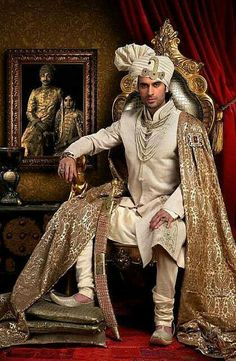 Indian and Pakistani bridal fashions Wedding lehenga Formal Rajput sherwani Anarkali Bridal lehenga Photo by Trevor Allen Wedding Dresses Men Indian, Wedding Dress Men, Wedding Men, Wedding Outfits, Farm Wedding, Wedding Couples, Boho Wedding, Indian Weddings, Wedding Reception