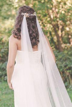 JADE   Draped Veil   Bohemian bridal veil