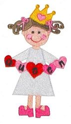 Queen of Hearts Filled 4x4 5x7 | Princess | Machine Embroidery Designs | SWAKembroidery.com Kimberbell Kids