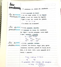 Vestibular, School Notes, Leis, Handwriting, Chemistry, Study, Letters, Organization, Study Notes