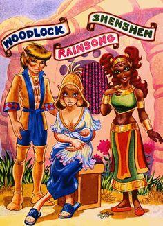 Woodlock, Rainsong, Shen-Shen. Elfquest