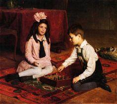 Chess Art – Famous chess paintings – Art Maker Wiz