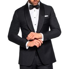 Classic black and white tuxedo with bowtie