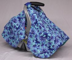Check out this item in my Etsy shop https://www.etsy.com/listing/222582163/aqua-blue-flower-baby-car-seat-canopy