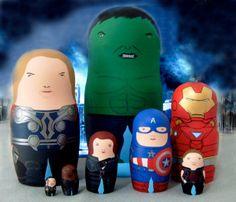 Matrioska de los Avengers