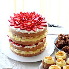 A cross between strawberry shortcake and banana cream pie, the perfect birthday cake!