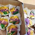 PThe Roosevelt Hotel's pastry chef Deborah Heyd created a miniature king cake that you can devour on your own without guilt.