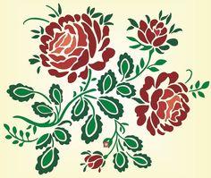 Rose pattern for shopbot pattern