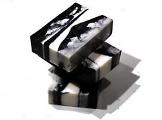 Activated Charcoal Soap Black and White