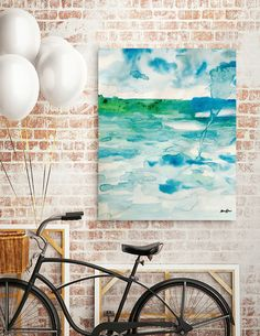 Discover «Miami Beach Watercolor #6», Numbered Edition Canvas Print by @anoellejay Alicia Jones - From $49 - @Curioos