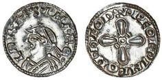 A Jewel Cross penny of Harold I (1035-40), minted at Thetford in Norfolk.