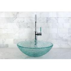 Round Tempered Glass Vessel Sink