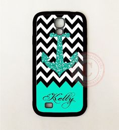 PERSONALIZED TEAL CHEVRON ANCHOR CASE COVER For Samsung Galaxy S8 S7 S6 NOTE 8 5 #UnbrandedGeneric