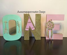 One letterspaper mache8inchesfirst birthday party