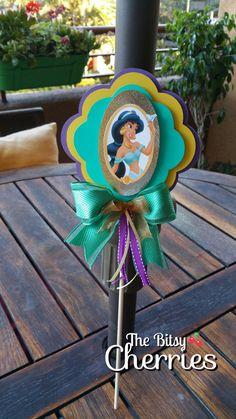 Princess Jasmine cake topper Centerpiece by TheBitsyCherries Aladdin Birthday Party, Aladdin Party, Princess Jasmine Cake, Disney Princess Party, Jasmin Party, Aladdin Cake, Arabian Party, Princess Cake Toppers, Baby Girl Birthday