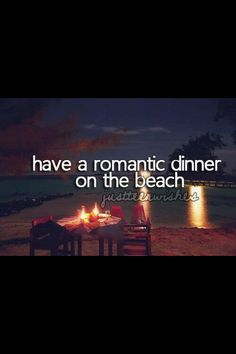 Romantic dinner on the beach. Check! in Aruba and it was perfect! From Desirae Sawyer's list.