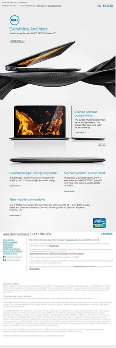Dell XPS Ultrabook email design.