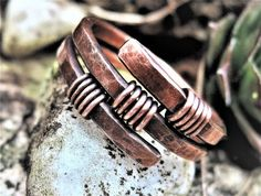 Mens copper ring Womens copper wire wrapped by MateriaMorfosi #wirejewelry