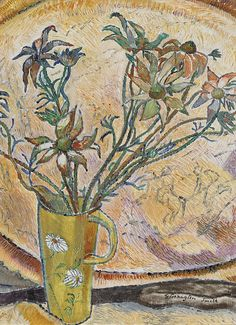 Flannel Flowers and Brass Tray by Grace Cossington Smith, 1931. (1892-1984) Click here to view image