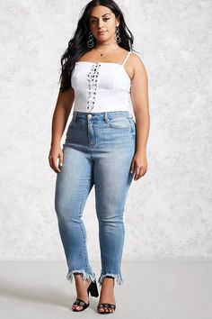 FOREVER 21+ Plus Size High-Rise Jeans