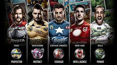 Marvel llegó a las camisetas del Rugby League australiano