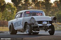 1955 Chevrolet Gasser drag racing race hot rod rods retro t wallpaper Old Race Cars, Us Cars, Firebird, Bel Air, Muscle Cars, 1955 Chevy, Vintage Race Car, Drag Cars, Drag Racing
