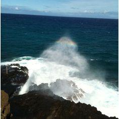 Blowhole by Diamondhead in Hawaii, 2011.