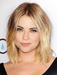Ashley Benson's short hair has the perfect unstructured bend to it