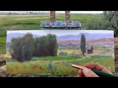 Painting a western homestead in about an hour - YouTube